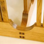 oak dining table details